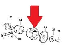 Заднее лезвие резинового валика Дл.590 мм ТОЛЩ. 3 мм