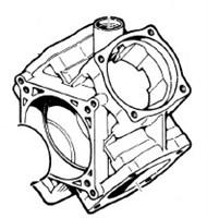 Насос центробежный Comet® серия C610H-PTO(нерж.) с мультиплекатором(655 л/мин;11,8 бар)без патрубков